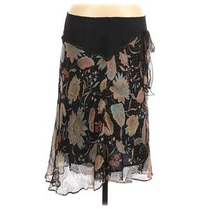 Only Hearts Slip Skirt Silk Floral Lace Inset